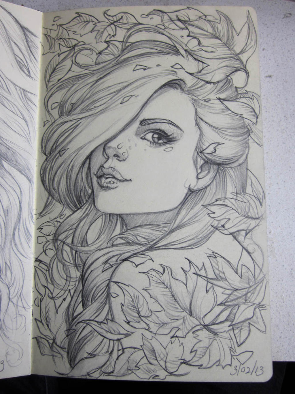 moleskine 4 sketch by sabinerich traditional art drawings portraits