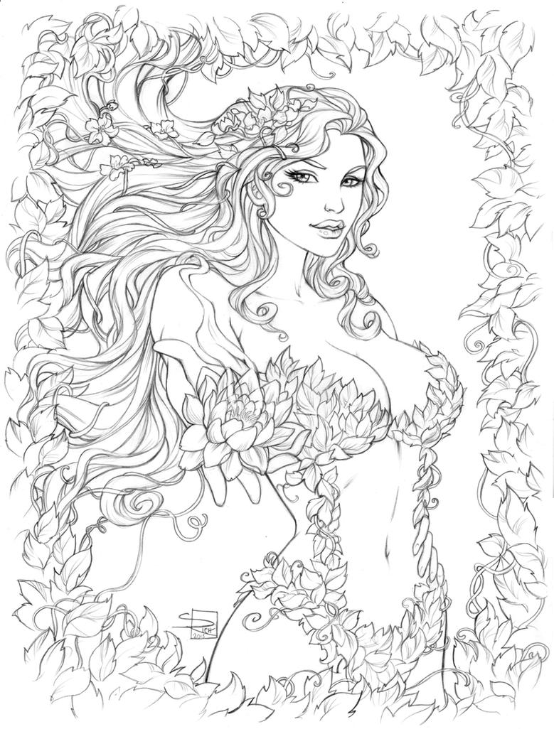 Poison Ivy Pencils Sabinerich On Deviantart Jpg 779x1026 Leaves Coloring Pages