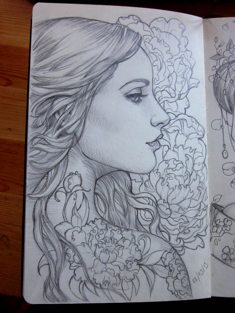 Moleskine 6 by sabinerich on deviantart for Beautiful drawing ideas