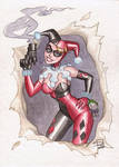 Harley Quinn Watercolor 2