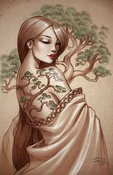 Bonsai tattoo by Sabinerich