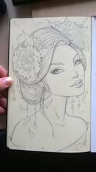 Summer Geisha by Sabinerich