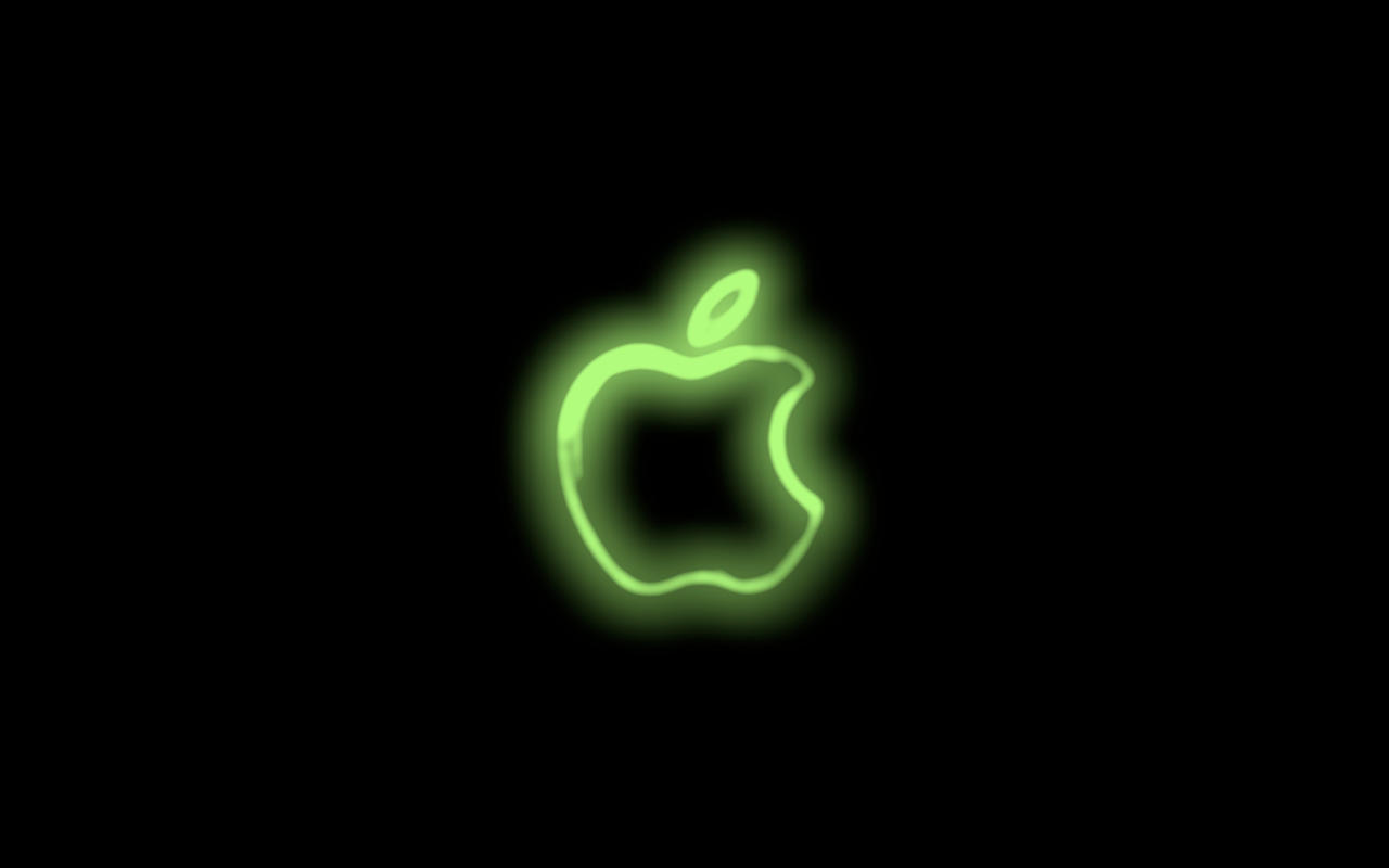 Group Of Apple Logo Neon Wallpaper
