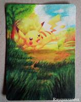 Pikachu Card by Rayquazanera