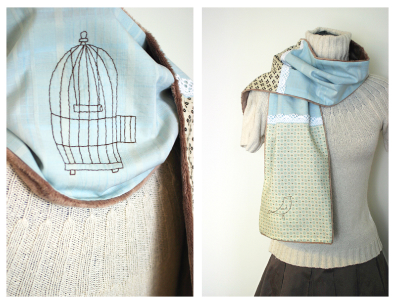 Free As A Bird scarf by kittyvane