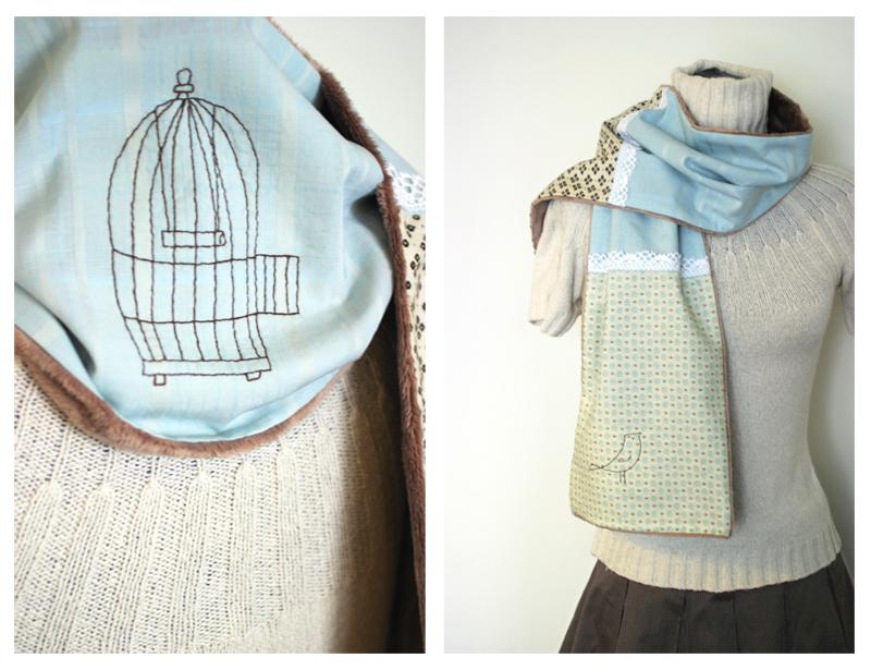 Free As A Bird scarf by kittyvane