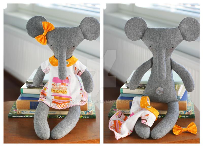 Princess the rag-elephant by kittyvane