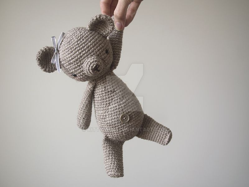 Bea, a bear, a crochet bear by kittyvane
