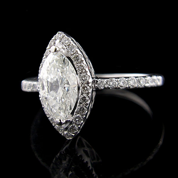white gold 0 97ctw marquise engagement ring by ownerofu on