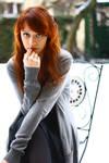 redhead in winter