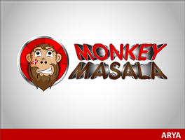 Mascot For MonkeyMasala by AryaInk