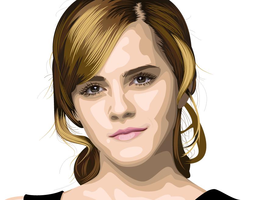 Vector Portrait - Emma Watson by AryaInk on DeviantArt