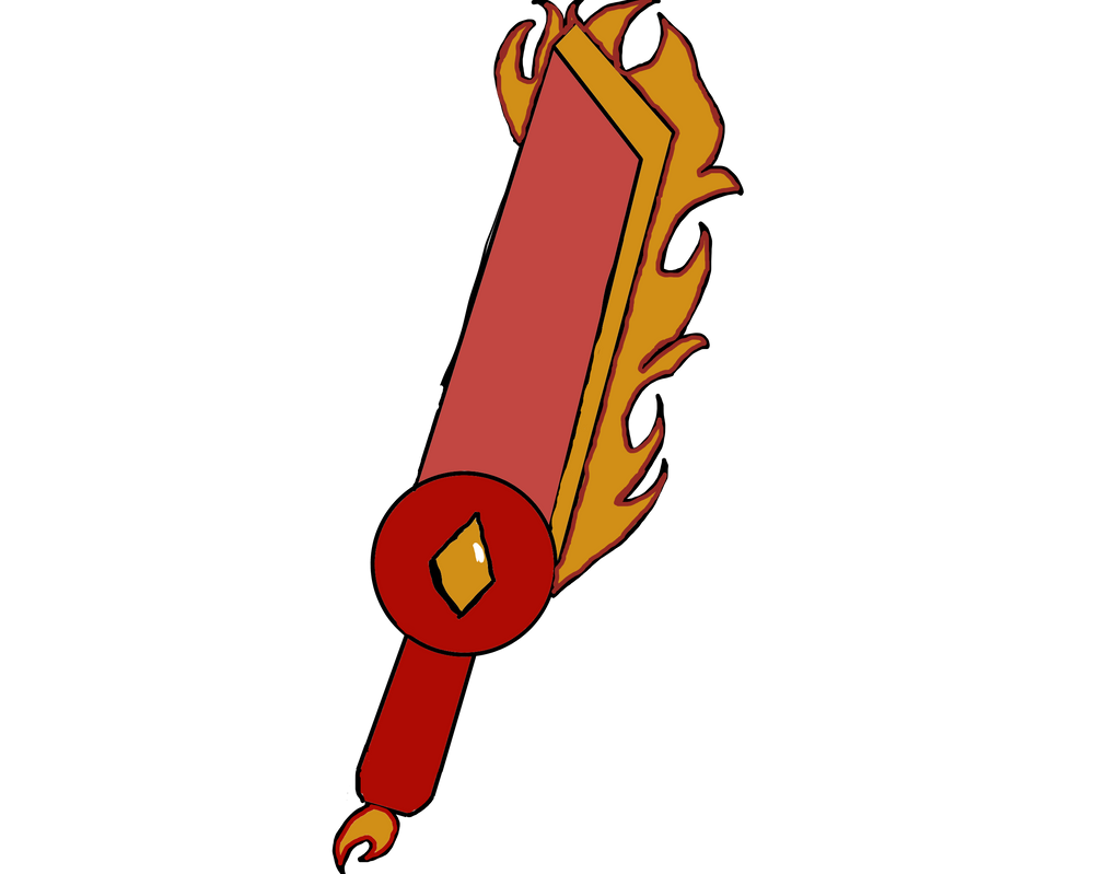 Flaming sword by TheAlphaGamer5