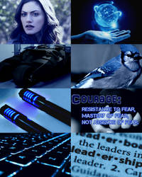 Aesthetic Blue Jay by Claire-White-Shadow