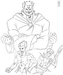 3 fantasy characters