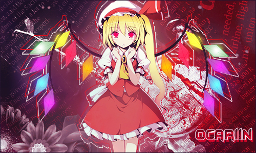 Flandre Scarlet Signature by ocariin