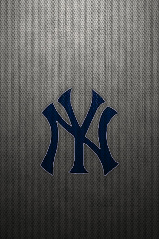 New York Yankees Logo On Gray Mesh WP2 By Drouell