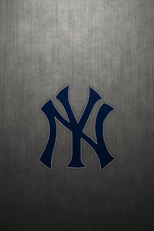 New York Yankees Logo On Gray Mesh Wp2 By Drouell On Deviantart
