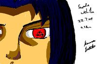 Sasuke Bebo Whiteboard Drawing by F-Stormer-3000