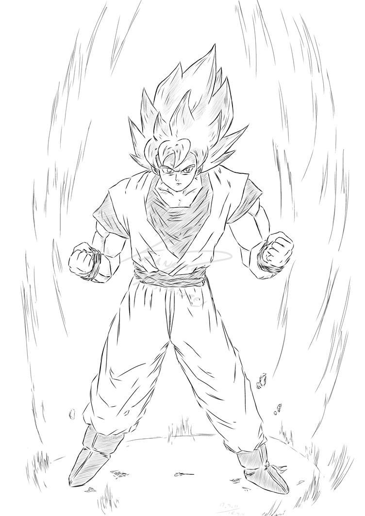 how to draw goku super saiyan 10000
