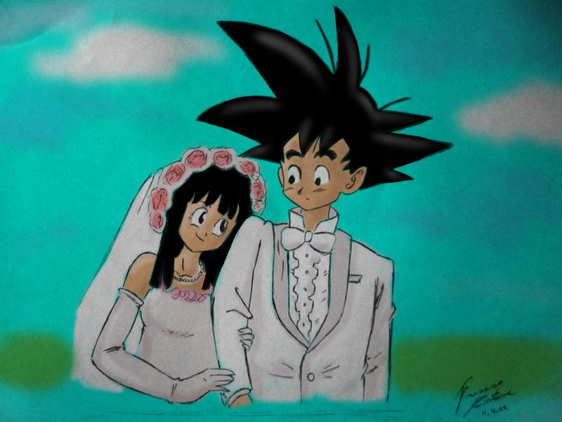 Goku and Chichi's Wedding by F-Stormer-3000