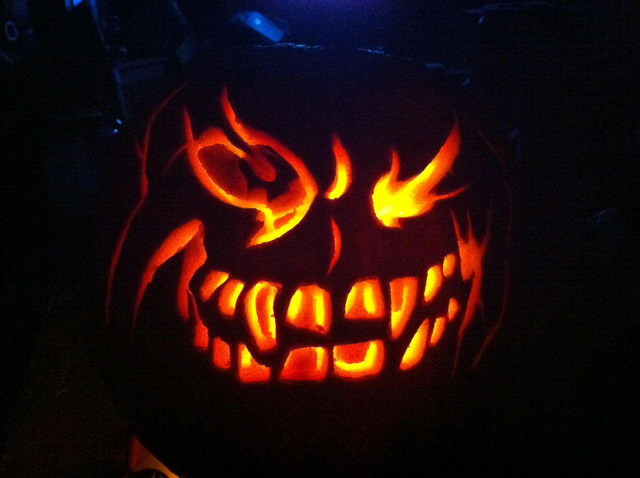 evil face pumpkin template - evil pumpkin face by heylarry on deviantart