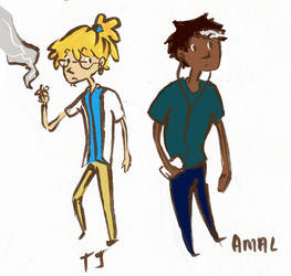 TJ and Amal Smalls by BlueCheshireCat