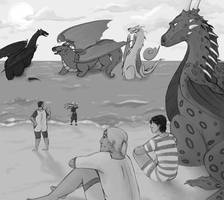Beach Day by BlueCheshireCat