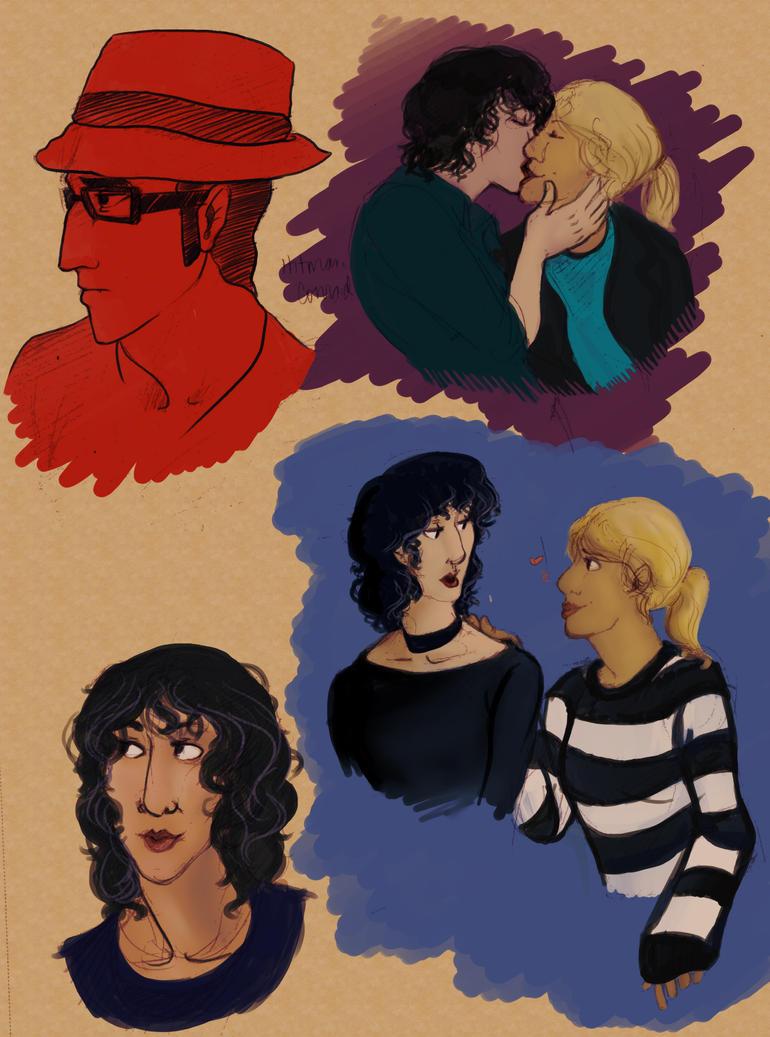 Fem-Sherlock Sketches by BlueCheshireCat