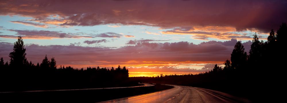 Sunset road by juhku
