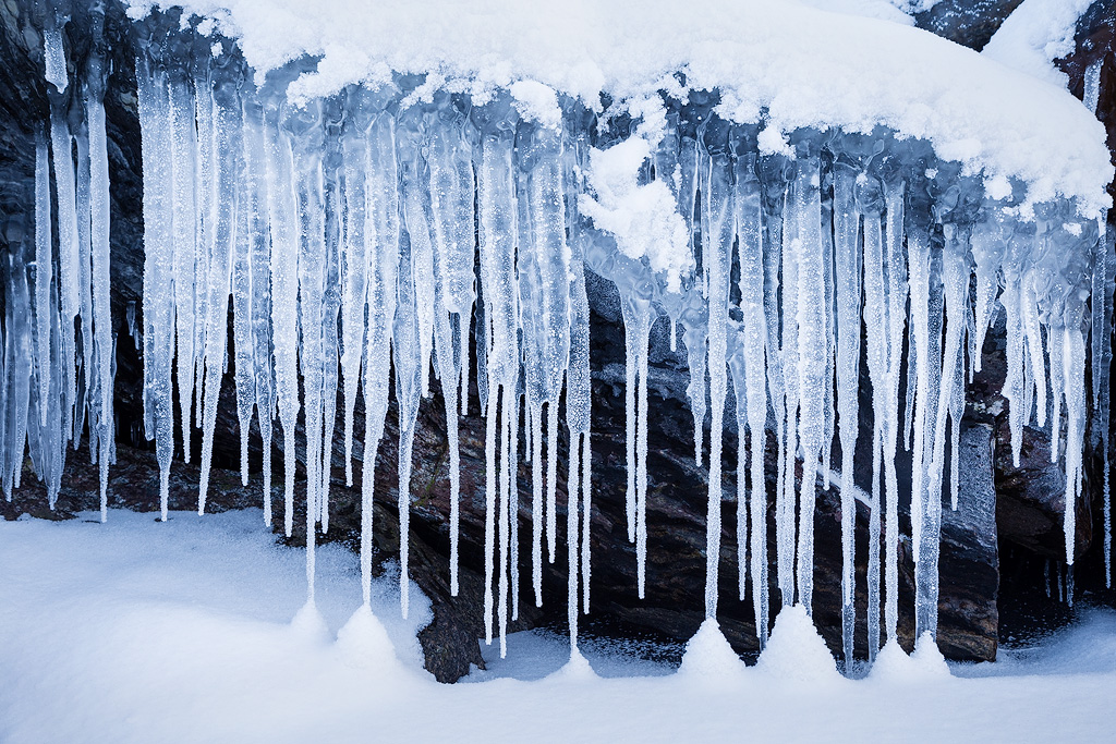 Frost icicles by JuhaniViitanen