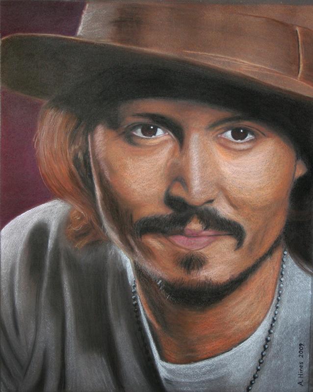 Johnny Depp in Pastel by geraden22