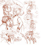 Riley and Annie Sketches