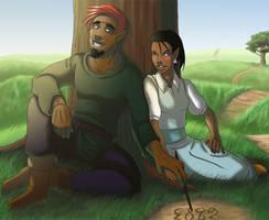 Commission: Diyero and Kalanu by Kezhound
