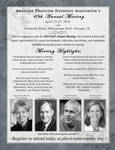 APSA 10th Annual Meeting Flyer