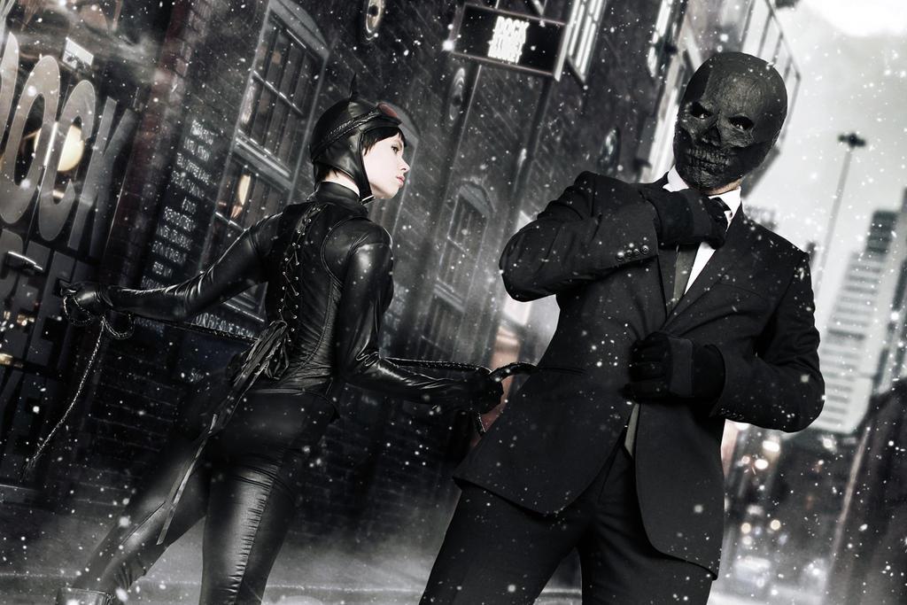 Catwoman and Black Mask - Arkham Serie - DC Comics by WhiteLemon