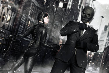 Catwoman and Black Mask - Arkham Serie - DC Comics by FioreSofen