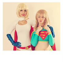 Supergirl and Powergirl - DC Comics by FioreSofen