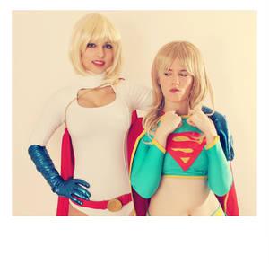 Supergirl and Powergirl - DC Comics