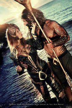 Mera and Aquaman - DC Comics by FioreSofen