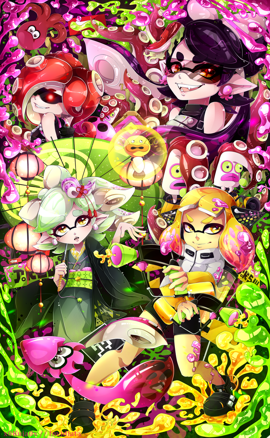 World Of (New) Nintendo (3DS XL) Splatoon_2___contest_entry_by_invidiata-dbhdfll