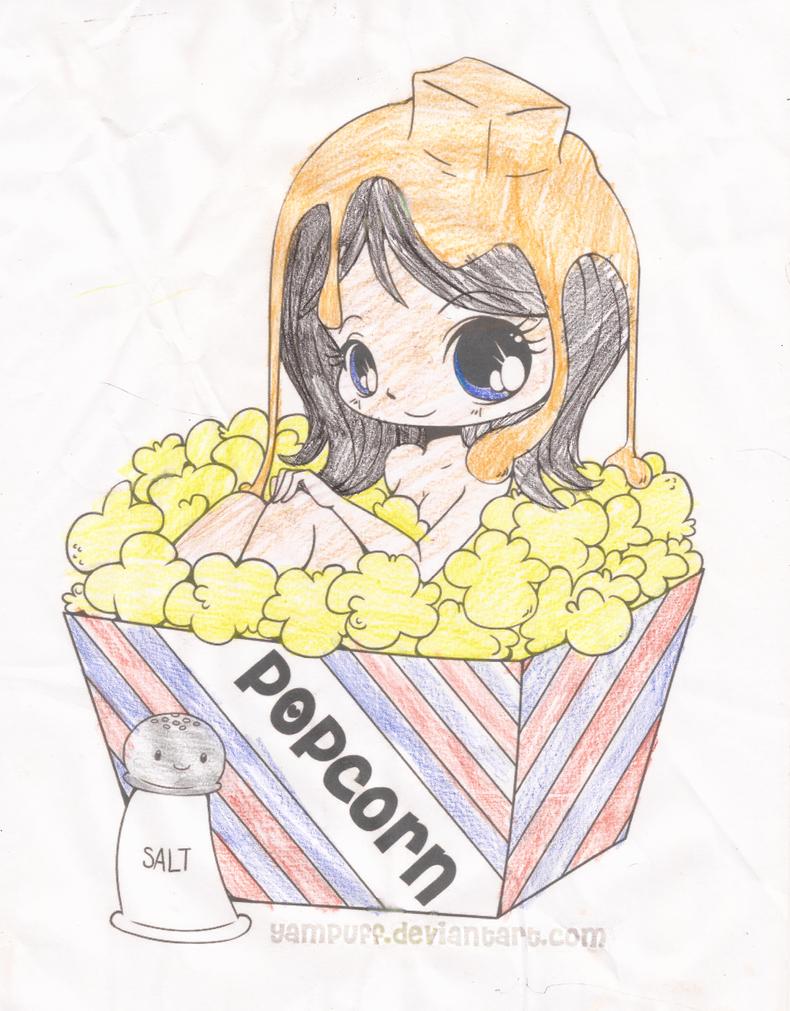 Popcorn Girl by Catsie95