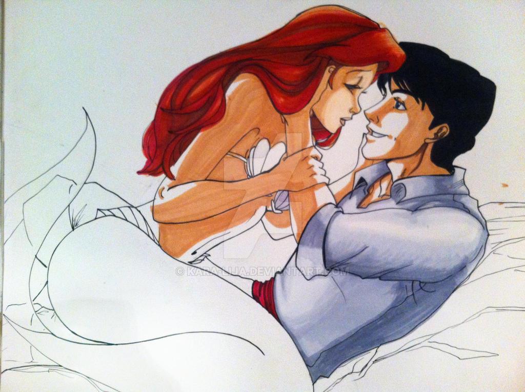 Ariel and Eric WIP by kara lija on DeviantArt