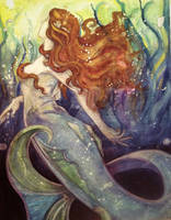 Vintage Mermaid by kara-lija