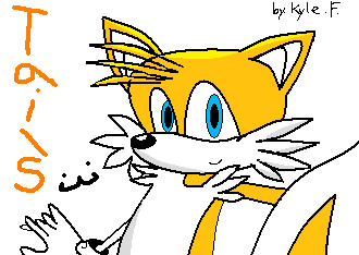 tails in MS paint Old but starting point here on D by RandomFoxFan