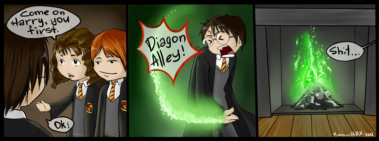 Harry Potter [Strip] by KamuiHAX