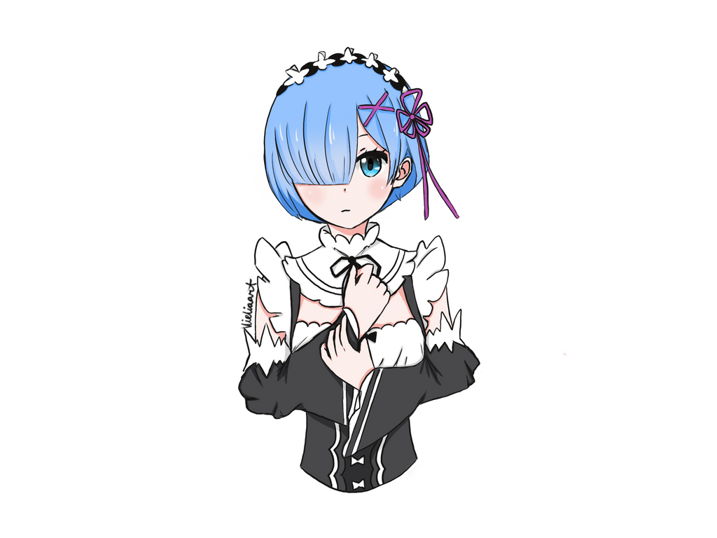 Rem - Re:Zero Fanart by Vieliaart