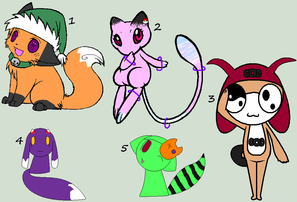 old OC Adoptables! (SOLD) by monsters-boy