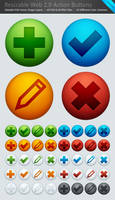 40 Web 2.0 Action Buttons .PSD