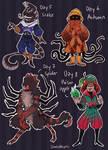 *open ota* Halloween days 5, 6, 7, 8 by LimesAdopts